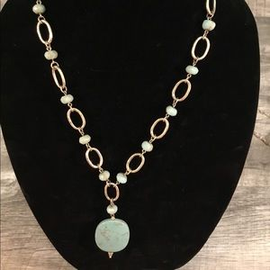 Jewelry - Mint Stone Gold Chain Necklace